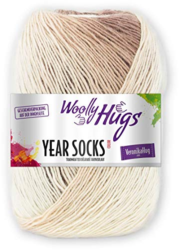 Woolly Hugs Year Socks Fb. 11 NOV, 100g Sockenwolle mit dezentem Degradé Farbverlauf
