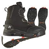 Korkers Devil's Canyon - Botas de vadeo con suela Kling-On y tachonadas, color negro, 11