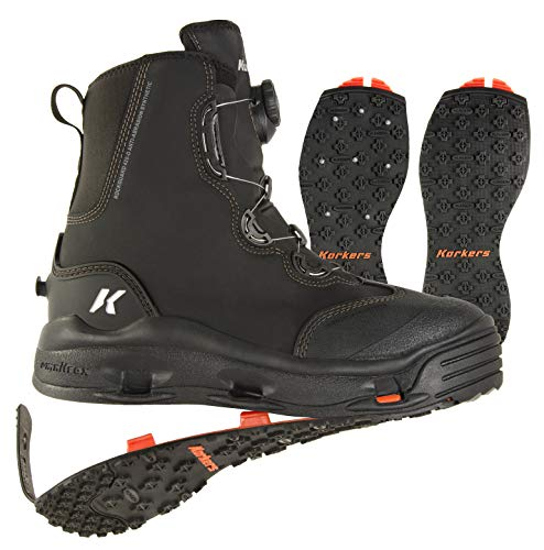 Korkers Men's FB4120 Athletic-Water-Shoes, 12