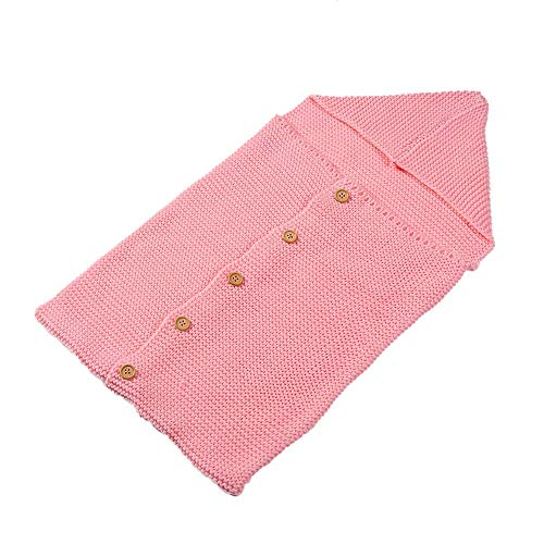 Ericcay Bebé Recién Nacido Swaddle Blanket Casual Chic Soft Knit Sleep Bag Baby Kids Toddler Toddler Knit Blanket Swaddle Sack Crib Blanket Wrap Carriage Wrap 38.1 X 71.1 Cm por Meses Gris