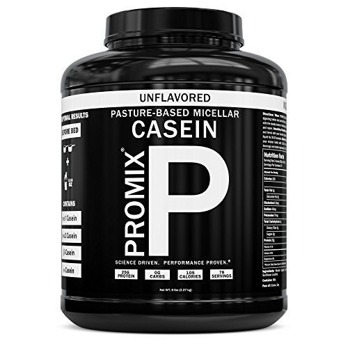 100% Casein Protein Powder I PROMIX Chocolate Micellar I USA Pastures I ONLY 1 Ingredient I Stimulate Muscle Growth & Recovery Slow Release Amino I Preservative Free Keto Bulk 5LB- No Soy, Gluten