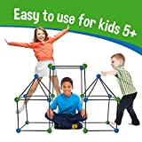 make your own tent - Matchaccino Construction Fort Building Kit - 77 Pieces with Storage Bag - Blue and Green