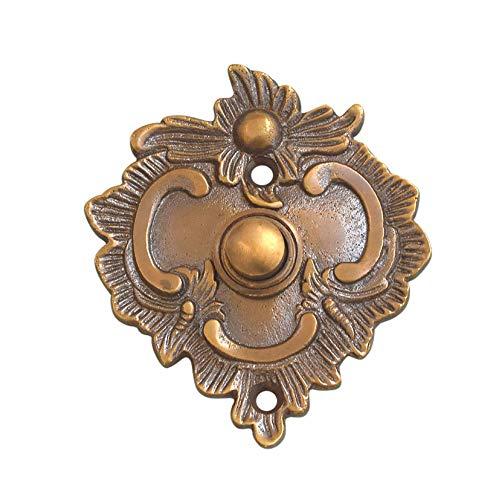 Graf von Gerlitzen Luxusgriffe Antik Messing Tür Klingel 1 Türklingel Klingelschild Klingelplatte Jugendstil K89A