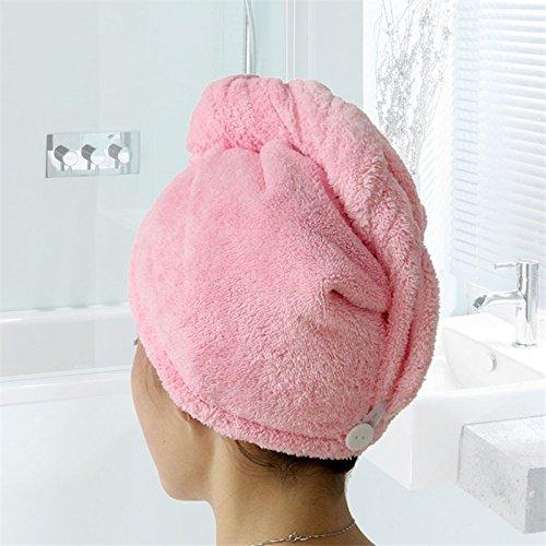 junchen femmes bain superabsor bierende microfibre à séchage rapide serviette cheveux séchage Casquette Salon Serviette 25 x 65 cm, rose, 25 x 65 cm, la Chine