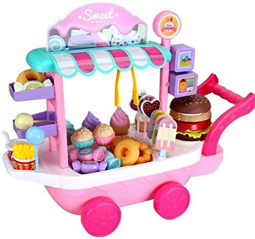 Eiswagen Spielzeug,Mini-Eiswagen Schokoriegel-Eiswagen Hausspiel Lernspielzeug EIS Candy Cart Haus-Denkspiel Kinderspielzeug
