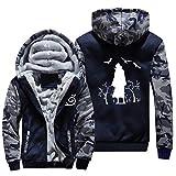 NIEWEI-YI Men's Casual Hooded Sweatshirts,Naruto Chaqueta con Capucha y Cremallera para Hombre, Forro Polar,M