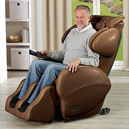 aktivshop Massagesessel »Freedom« Relaxsessel Entspannungssessel Massage Sessel (Braun)