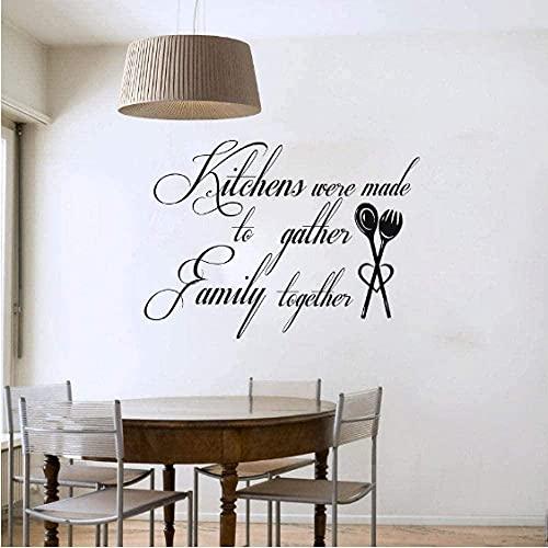 Etiqueta De La Pared, La Cocina Es Una Palabra De Familia, Vinilo Artístico, Impermeable, Adhesivo Para Pared De Cocina, Azulejo Utilizado Para Fiestas, 58Cmx43Cm