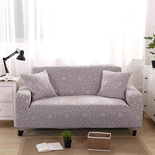 WXQY Funda de sofá elástica Flexible para salón, Funda de sofá Universal, Funda Protectora para sillón de Muebles en Forma de L A25 1 Plaza