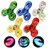 SCIONE Fidget Spinners 5 Pack,LED...
