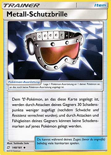 148/181 - Metall - Schutzbrille - Uncommon - Pokemon - Deutsch - Teams sind Trumpf