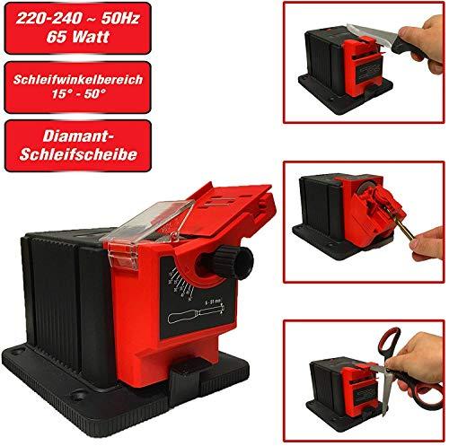 YIWUTRADE Universal Schärfstation, Multifunktionsschärfer Professionelles elektrisches Messer & Meißel & HSS Bohrerschärfmaschine