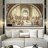 nr Plakate und Drucke von Raffaels berühmter Schule für Malerei und Kunst in Athen. Kunst Gemälde auf Leinwand Wände. -40x60cm Rahmenlos