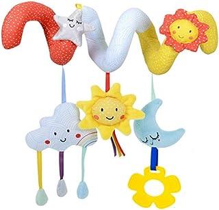 NUOLUX Kid Baby Crib Cot Pram Hanging Rattles Spiral Stroller Car Seat Toy(Sun,Moon