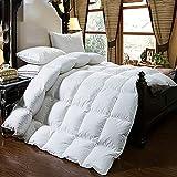 GSLBABY Bettdecke aus Reiner Baumwolle, super warm und bequem, Hotelqualität, geeignet für Familienhotels im Herbst und Winter,Weiß,220x240cm