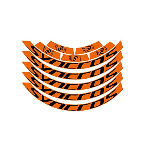 SHAYC Mountainbike-Rad-Set Rim-Aufkleber MTB-Felgen-Abziehbilder Fahrradabziehbilder 27.5inch und 29inch Fahrradzubehör (Color : 29er Bright orange)