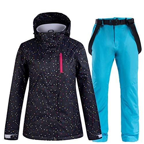 SxLingerie Traje De Esquiar Mujer Chaqueta Y Pantalones Esquí De Invierno Térmico...