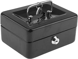 Hellery Mini Coffre-fort Boîte de Sécurité Lock de Caisse Boîte Rangement d'Argent - 15 x 12 x 8cm - Noir
