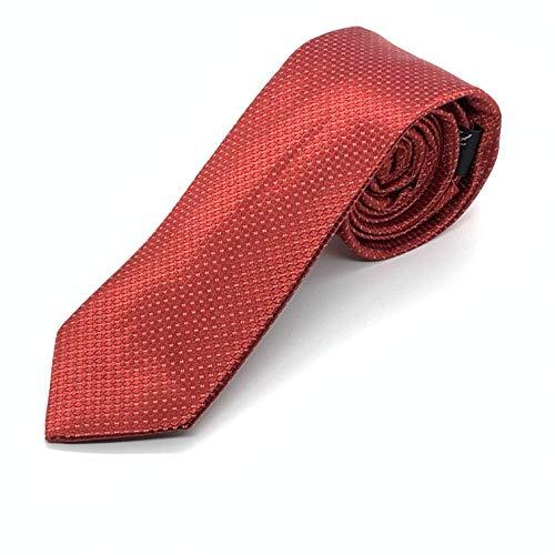 PB Pietro Baldini Corbatas rojas de hombre - corbatas de hombre finas - corbata cuadros 100% seda - Lazo en dif colores - Talla 150 * 7 (Roja)