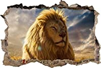 NIUASH ウォールステッカー ライオンスマッシュウォールステッカーグラフィックウォールステッカーアートウォール壁画ジャングル動物50x70cm50x70_Cm