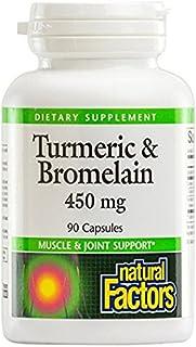 Natural Factors Turmeric & Bromelain 450mg, 90 Capsules