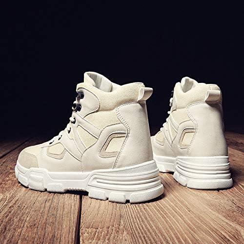 LOVDRAM Bottes Homme Hiver Haut Chaussures Homme Neige Sauvage Bottes Homme Bottes Courtes en Outillage Bottes Martin Sports Et Loisirs