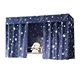 Millya Student Domitory Blackout Bed Curtain Galaxy Starry Bed Canopy Mosquito Nets Bunk Bed Tent(Starry Theme,1.15 * 2M)