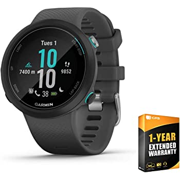Garmin 010-02247-00 Swim 2 GPS Swimming Smartwatch Slate Bundle with Care Extension