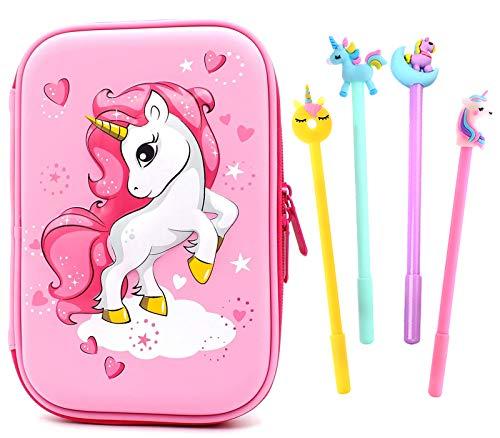Unicorno Astucci Set,Astuccio Portapenne Hardtop Unicorno Portamatite,Astuccio Con...