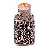Idiytip Empty Antiqued Metal Perfume Bottle Atomizer Arabic Style Essential Oils Bottle Container for Bathroom Decoration(Bronze)