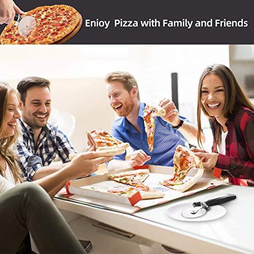 D/écoration Id/éale et Cadeau BESTZY 2pcs Anti-adh/ésif en Acier Inoxydable Roulette /à Pizza V/élo D/écoupe-Pizza