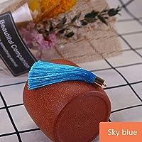 10-50ピースの金属製のキャップタッセルジュエリーのカーテンの衣服装飾的なDIYのキー携帯電話のフリンジトリムタッセルペンダント liuhaiweiribeng (Color : Sky blue, Size : 10Pcs)
