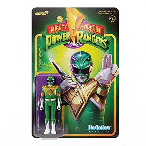 Super7 Mighty Morphin Power Rangers: Green Ranger Reaction Figure, Multicolor