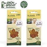 Gruenspecht - Chupete ecológico de caucho natural 6-18 meses // Juego de 2...