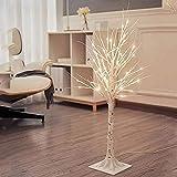 WDCC Lámpara de pie Decorativa, lámpara de pie Moderna y Creativa Tejida a Mano, lámpara de pie LED de Interior en Forma de árbol de 90 cm, Cable de Carga USB, Blanco cálido / 90 cm