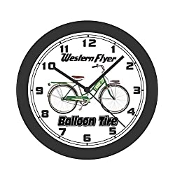 Western Auto Balloon Tire Bicycle Wall Clock