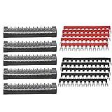 Morsettiera da 5 set - 5 pezzi Morsettiera a doppia fila 12 posizioni 600V 15A Morsettiera...