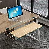 Baihao bandeja teclado bajo mesa ajustable, para ordenador portátil reposabrazos soporte para reposabrazos de mesa bandeja para codo, extensor de escritorio para hogar