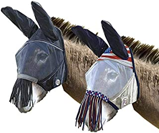 Derby Originals Mule Reflective Safety Fly Mask with Ears & Nose- 1 Year Limited Warranty - Two Colors