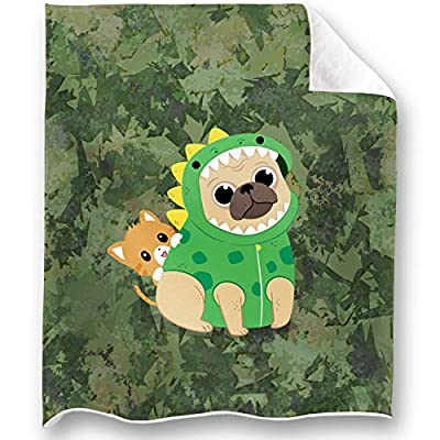 LOONG DESIGN Sleeping Sloth and Elephant Throw Blanket Super Soft, Fluffy, Premium Sherpa Fleece Blanket 50'' x 60'' Fit for Sofa Chair Bed Office Travelling Camping Gift