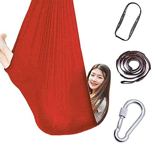 AGKupel Kids Hangmat Swing, Indoor Therapy Swing, Speciale Noden Knuffel Hangmat voor Kinderen Rood S