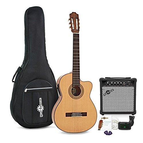 Deluxe Single Cutaway Elektroakustische Gitarre mit 15-Watt-Verstarker Paket