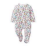 Pijama para bebé niña, niño, de algodón, doble cremallera, de manga larga, cálida, para ropa de 0-18 meses