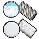 Queta 2pcs Kit de Filtro de Espuma y Filtros HEPA para Aspiradoras Rowenta Power Cyclonic/Moulinex/Tefal, RO3718EA RO3724EA...