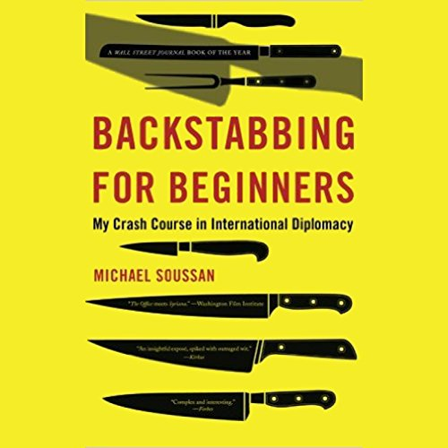 Backstabbing for Beginners audiobook cover art