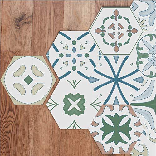 Piastrella per pavimenti Adesivo Impermeabile anti-skid twill film Wall Sticker decorazione bagno 23 * 20cm * 20pcs Kk-44