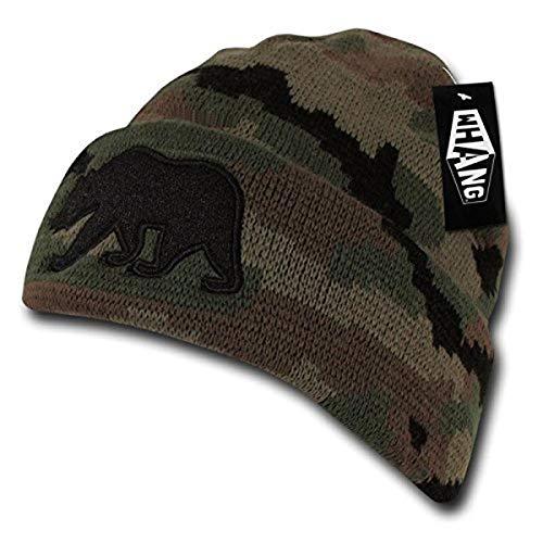 WHANG - Bonnet à Revers orné du Logo Ours de Californie – Motif Camouflage