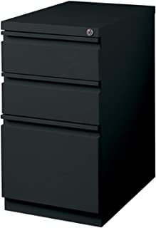"WorkPro 23""D Vertical 3-Drawer Mobile Pedestal File Cabinet, Metal, Black"