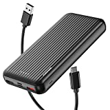 Undreem Power Bank 20000mAh 【Fast Charging 18W PD QC3.0】 Triple 3A Output Portable Charger 【USB C & Lightning USB】 External Battery Pack Compatible with iPhone Samsung Google LG iPad etc.