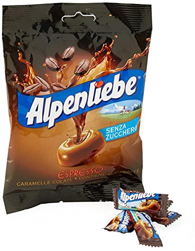 Alpenliebe Espresso, Caramelle Colate Gusto Caffè, senza Zucchero e senza Glutine, 80g